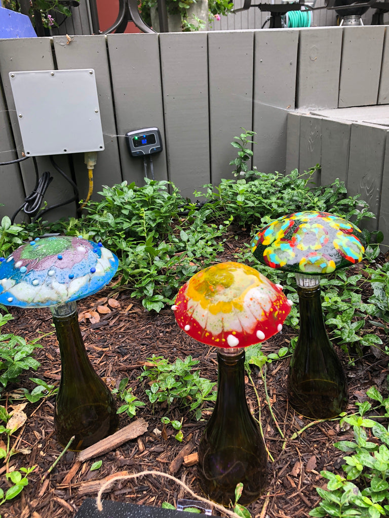 Solar Mushrooms 6.5""