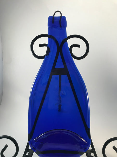 Cobalt Wine Bottle Cheese Board