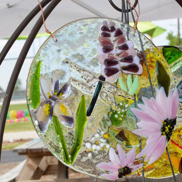 "8"" pink and purple sun catcher"