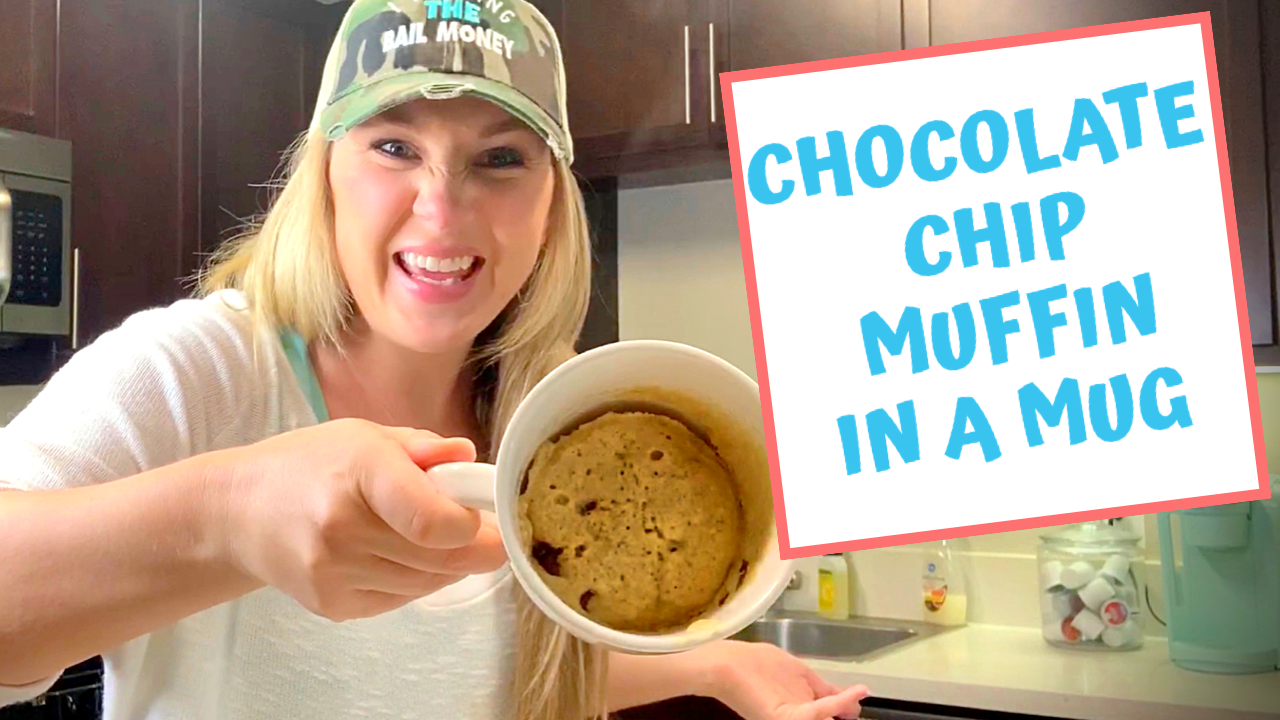 90 Second Microwave Chocolate Chip Muffin In A Mug Piper Lou Collection
