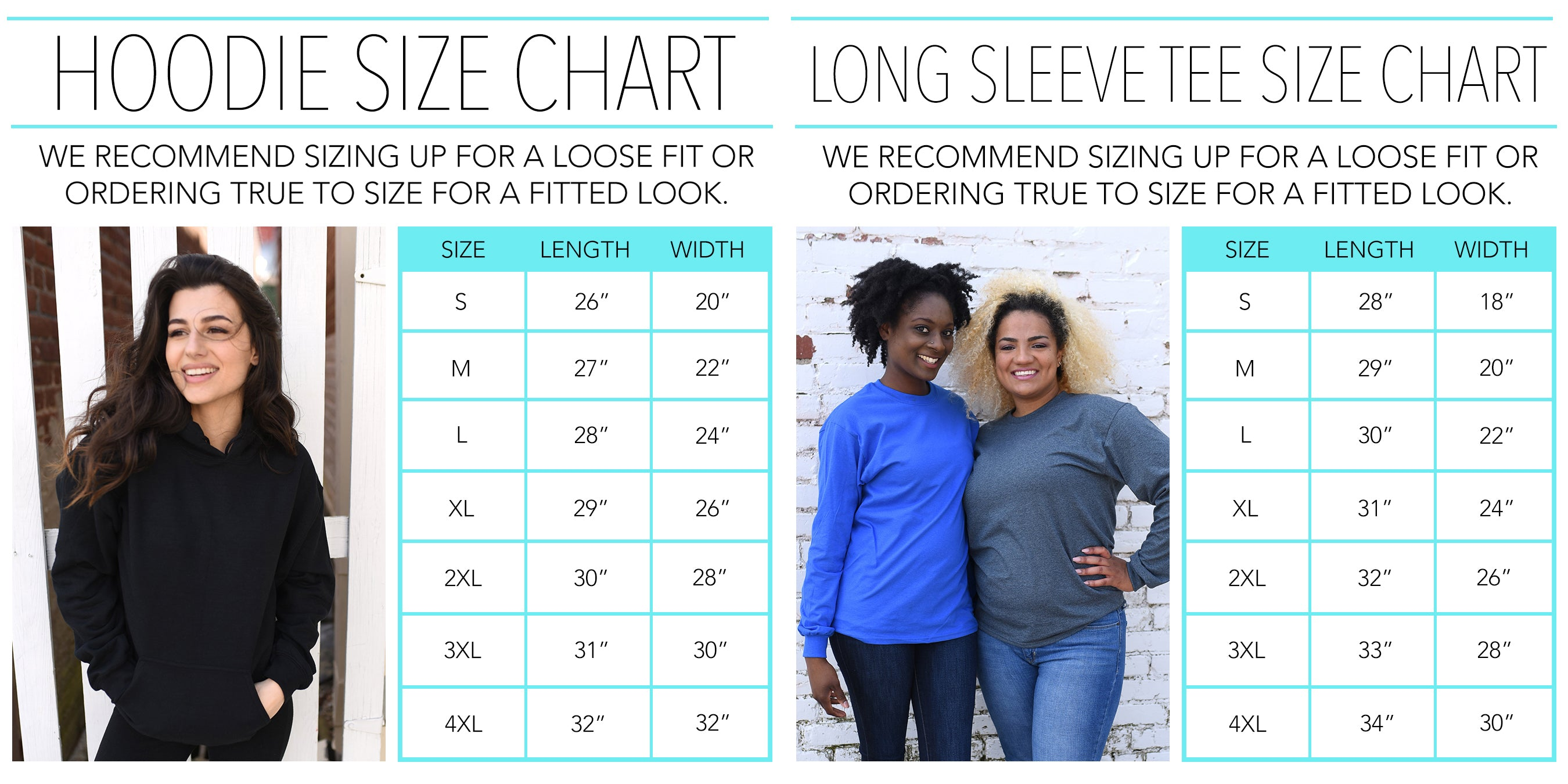 Winter Apparel Size Chart