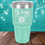 Oh Snap Camera Laser Etched Tumbler