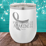 Hydrocephalus Awareness 12oz Stemless Wine Cup