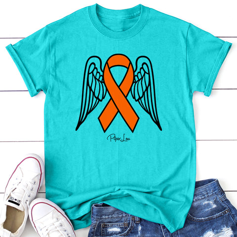 100% Donation - Multiple Sclerosis Angel Wings Ribbon