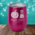 Pumpkin Spice Power Couple Laser Etched Tumbler