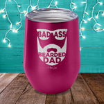 Badass Bearded Dad Laser Etched Tumbler
