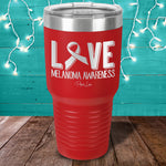 Melanoma Love Ribbon Laser Etched Tumbler