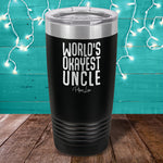 World's Okayest Uncle Laser Etched Tumbler