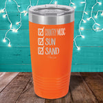 Checklist - Country Music, Sun, Sand Checklist Laser Etched Tumbler