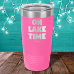 On Lake Time Laser Etched Tumbler