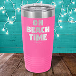 On Beach Time Laser Etched Tumbler