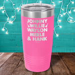 Country Music Icons Men Laser Etched Tumbler