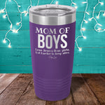 Mom Of Boys (Definition) Laser Etched Tumbler