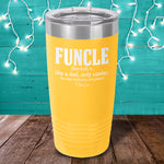 Funcle Laser Etched Tumbler