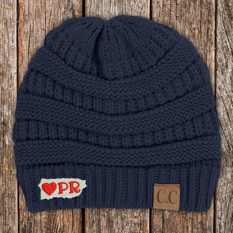 100% Donation - Hearts For Puerto Rico Beanie