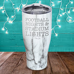Football Nights Stadium Lights Laser Etched Tumbler