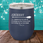 Archery Definition 12oz Stemless Wine Cup