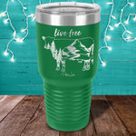 Live Free Cow Laser Etched Tumbler