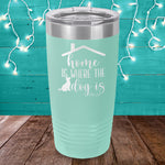 Home Is Where The Dog Is Laser Etched Tumbler