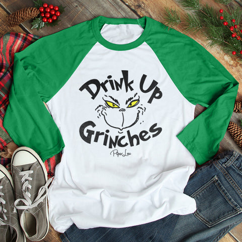 Drink Up Grinches Christmas Raglan (Unisex)