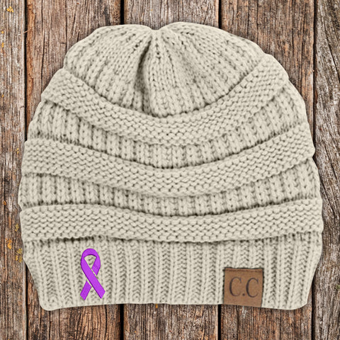 Epilepsy Awareness Knit Beanie