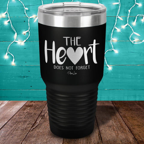 100% Donation - Alzheimer's The Heart Does Not Forget Laser Etched Tumbler