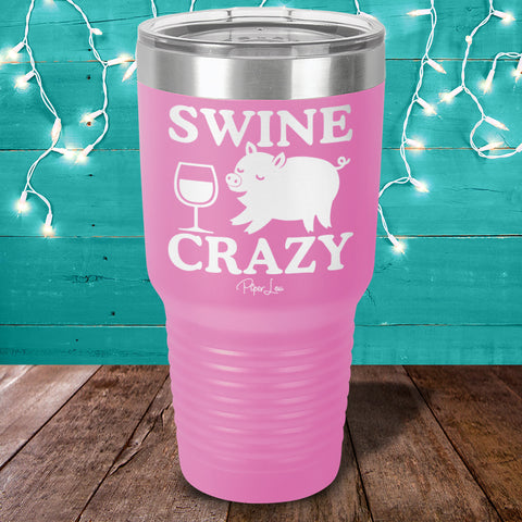 Swine Crazy Laser Etched Tumbler