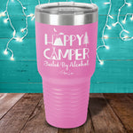Happy Camper Fueled By Alcohol Laser Etched Tumbler