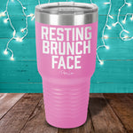 Resting Brunch Face Laser Etched Tumbler