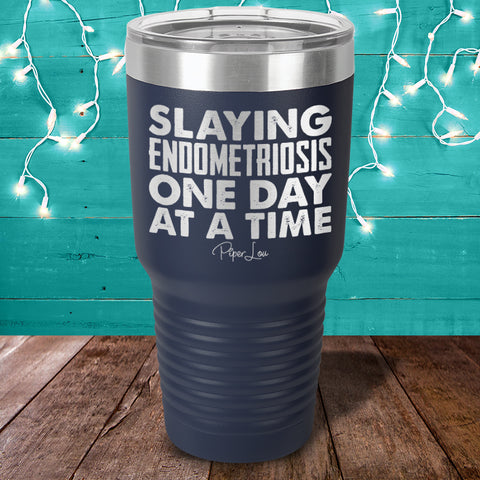 Slaying Endometriosis Laser Etched Tumbler
