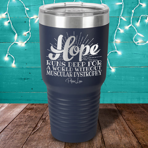 100% Donation - Muscular Dystrophy Hope Runs Laser Etched Tumbler