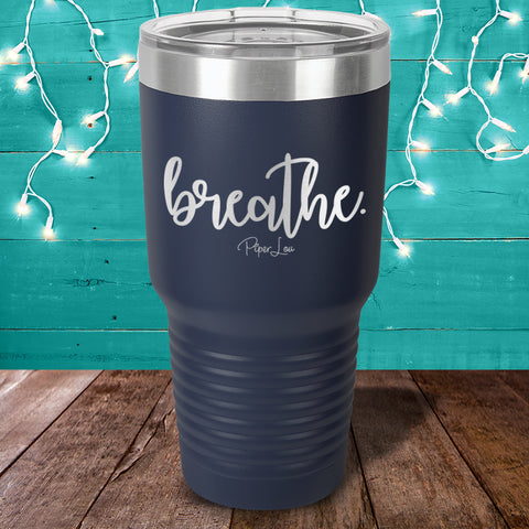 100% Donation - Cystic Fibrosis Breathe Laser Etched Tumbler