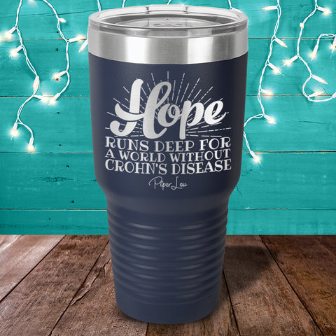 100% Donation - Crohn's Hope Runs Deep Laser Etched Tumbler