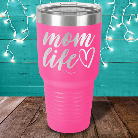 Mom Life Laser Etched Tumbler