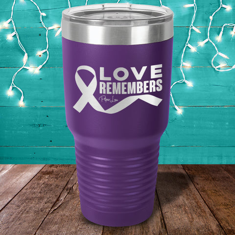 Alzheimer's Love Remembers Laser Etched Tumbler