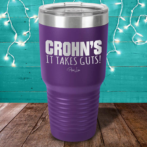 Crohn's It Takes Guts Laser Etched Tumbler
