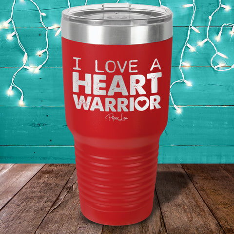 I Love A Heart Warrior Laser Etched Tumbler