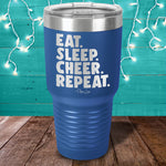 Eat Sleep Cheer Repeat Laser Etched Tumbler