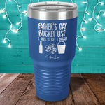 Father's Day Bucket List Laser Etched Tumbler