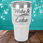 Wake And Lake Laser Etched Tumbler