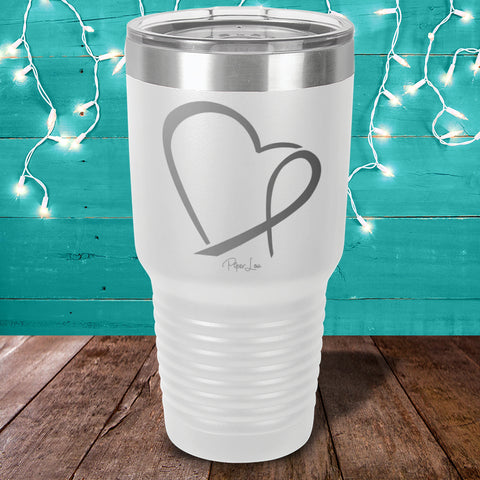 Heart Disease Ribbon Heart Laser Etched Tumbler