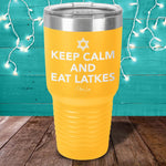 Keep Calm And Eat Latkes Laser Etched Tumbler