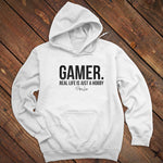 Gamer Real Life Is Just A Hobby Men's Apparel