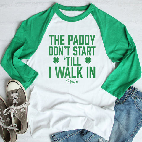 The Paddy Don't Start St. Patrick's Raglan (Unisex)