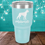 Boxer Mama Laser Etched Tumbler