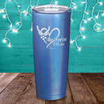 Air Force Mom Laser Etched Tumbler