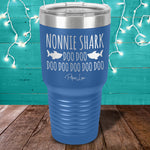 Nonnie Shark Laser Etched Tumbler