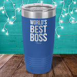 World's Best Boss Laser Etched Tumbler