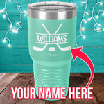 Custom Name Hockey Laser Etched Tumbler