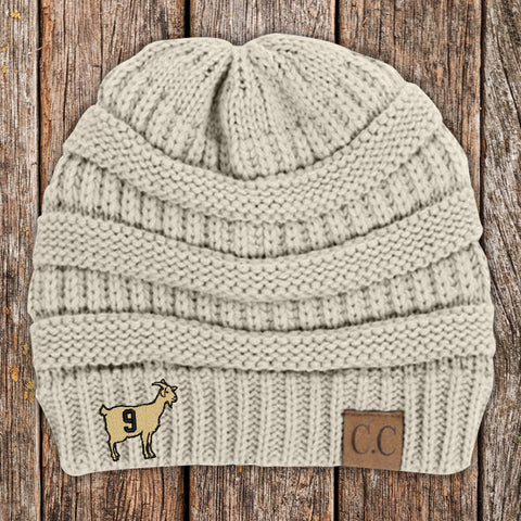GOAT 9 C.C Thick Knit Soft Beanie
